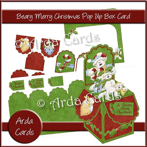 Beary Merry Christmas Pop Up Box Card