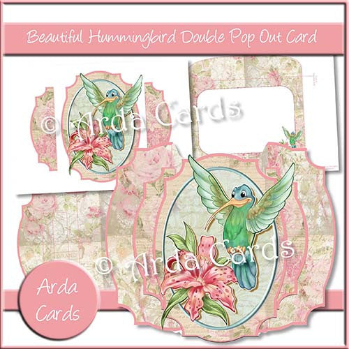 Beautiful Hummingbird Double Pop Out Card - The Printable Craft Shop
