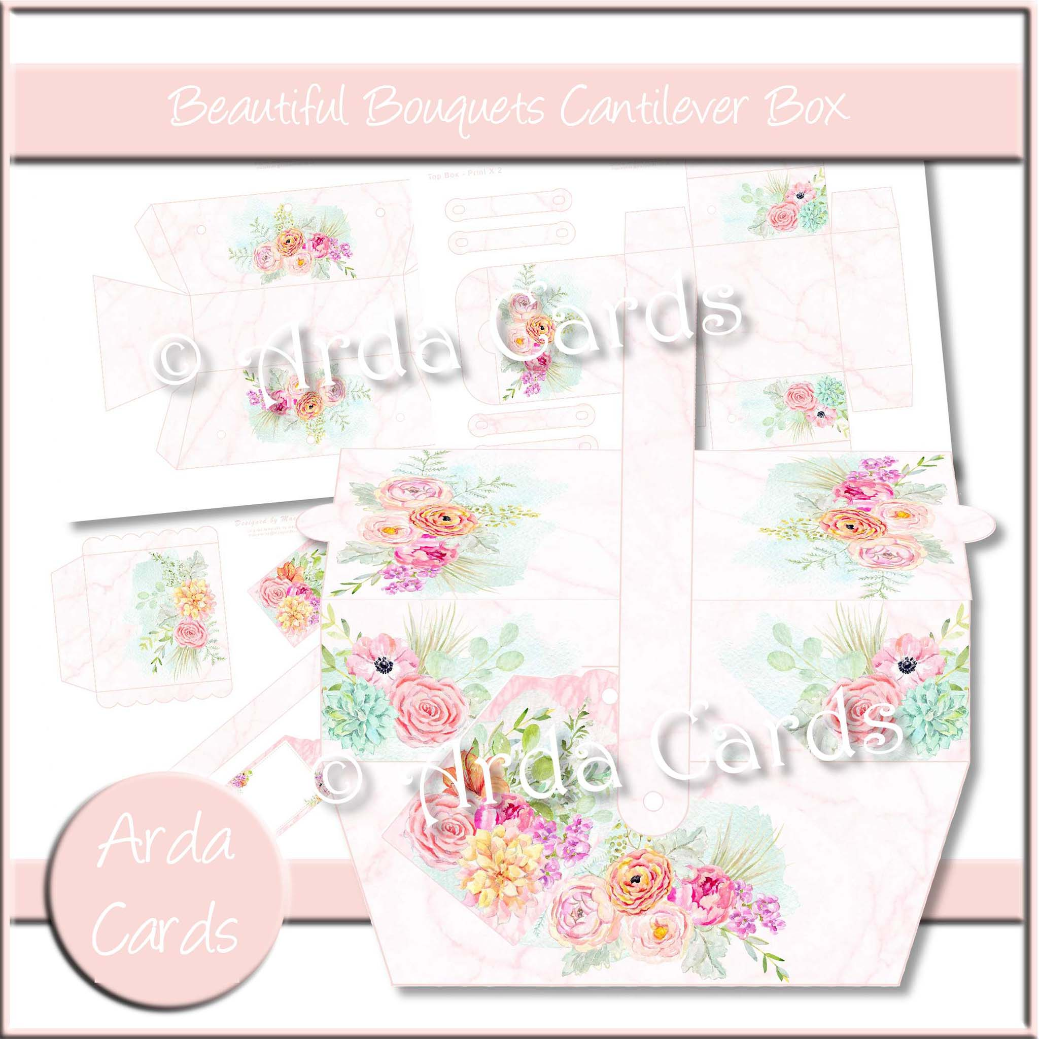 Beautiful Bouquets Printable Picnic Box