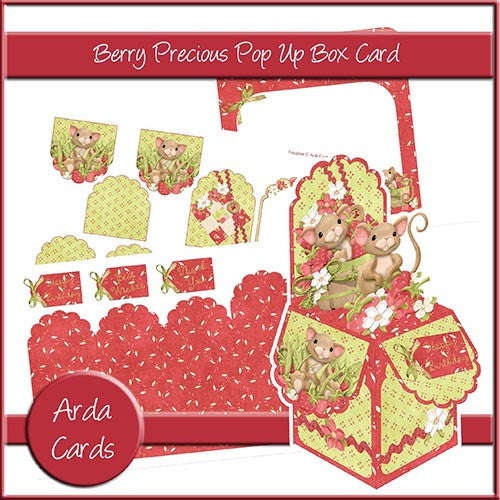 Berry Precious Pop Up Box Card - The Printable Craft Shop