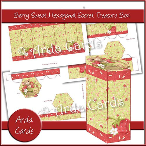 Berry Sweet Hexagonal Secret Treasure Box - The Printable Craft Shop