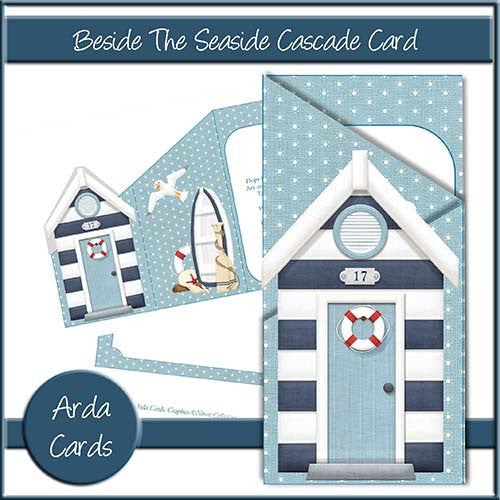 Beside The Seaside Cascade Card - The Printable Craft Shop