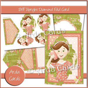 BFF Upright Diamond Fold Card - The Printable Craft Shop