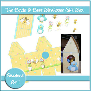 The Birds & The Bees Birdhouse Gift Box - The Printable Craft Shop
