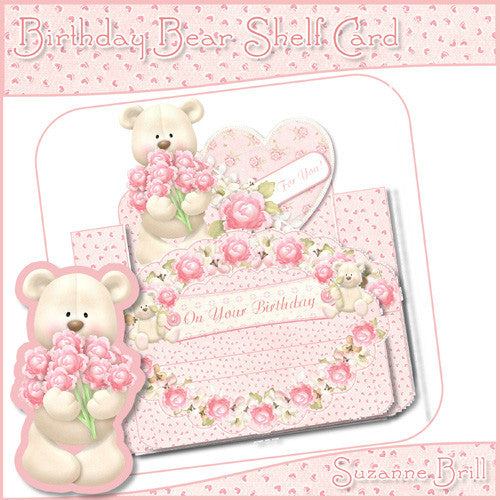 Birthday Bear Shelf Card - The Printable Craft Shop