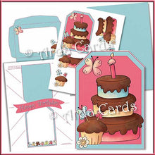 Load image into Gallery viewer, Birthday Cake Printable Pop Out Banner Card - The Printable Craft Shop
