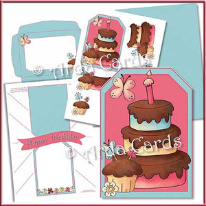 Birthday Cake Printable Pop Out Banner Card - The Printable Craft Shop