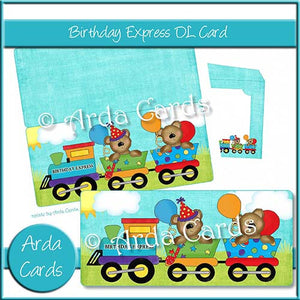 Birthday Express DL Card - The Printable Craft Shop