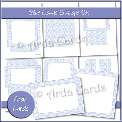 Blue Clouds Envelope Set