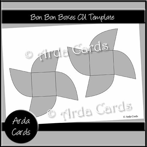 Bon Bon Boxes CU Template - The Printable Craft Shop