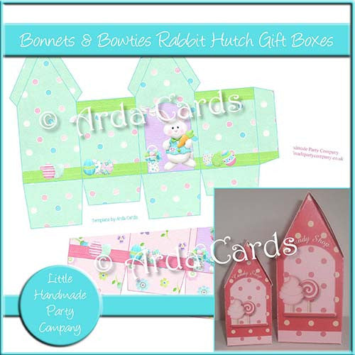 Bonnets & Bowties Rabbit Hutch Boxes - The Printable Craft Shop