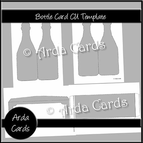 Bottle Card CU Template - The Printable Craft Shop