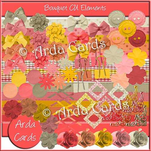 Bouquet CU Elements - The Printable Craft Shop