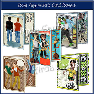 Boys Asymmetric Card Bundle