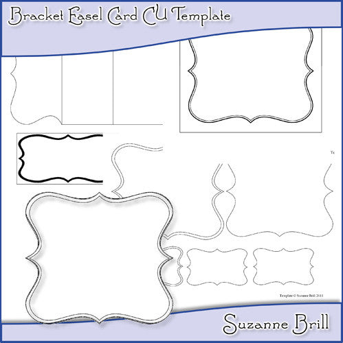 Bracket Easel Card CU Template - The Printable Craft Shop