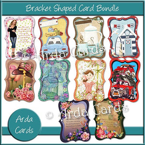 Bracket Shaped Card Bundle - The Printable Craft Shop