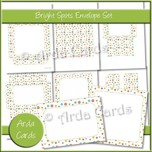 Bright Spots Envelope Set - The Printable Craft Shop