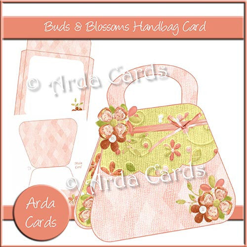 Buds & Blossoms Handbag Card - The Printable Craft Shop