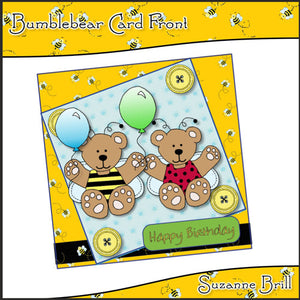 Bumblebear Card Front - The Printable Craft Shop