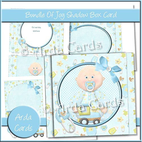 Bundle Of Joy Shadow Box Card - The Printable Craft Shop