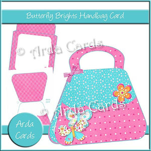 Butterfly Brights Handbag Card - The Printable Craft Shop
