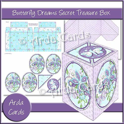 Butterfly Dreams Secret Treasure Box - The Printable Craft Shop