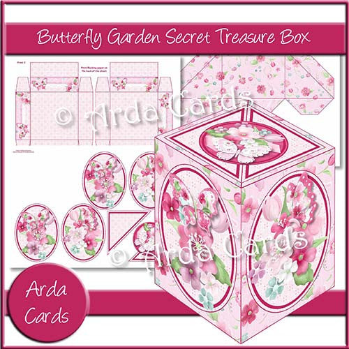 Butterfly Garden Secret Treasure Box - The Printable Craft Shop