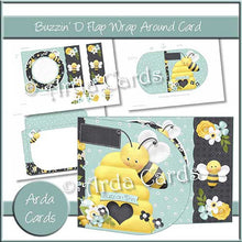 Load image into Gallery viewer, Buzzin' D Flap Printable Wrap Around Card - The Printable Craft Shop - 1