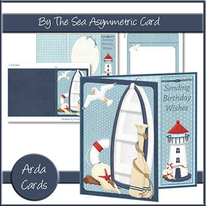 By The Sea Asymmetric Card - The Printable Craft Shop