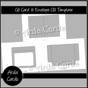 C6 Card & Envelope CU Template - The Printable Craft Shop