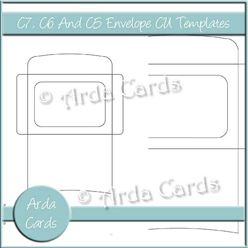 C7, C6 And C5 Envelope CU Templates - The Printable Craft Shop