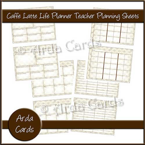 Caffe Latte Life Planner Printable Teacher Planning Sheets - The Printable Craft Shop