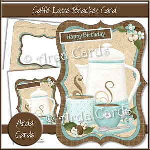 Caffe Latte Bracket Card - The Printable Craft Shop