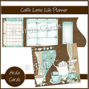 Caffe Latte Printable Life Planner - The Printable Craft Shop