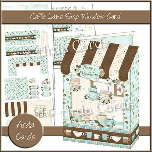 Caffe Latte Shop Window Card