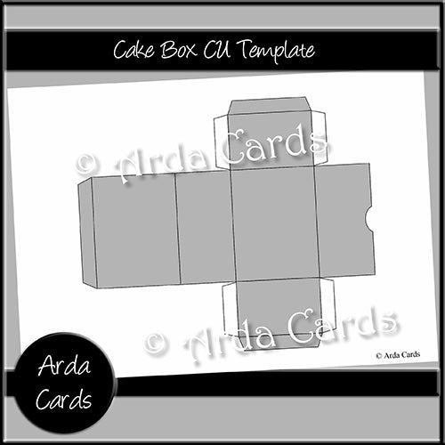 Cake Box CU Template - The Printable Craft Shop