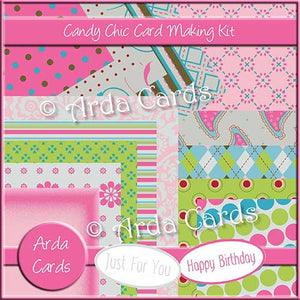Candy Chic Card Making Kit - The Printable Craft Shop