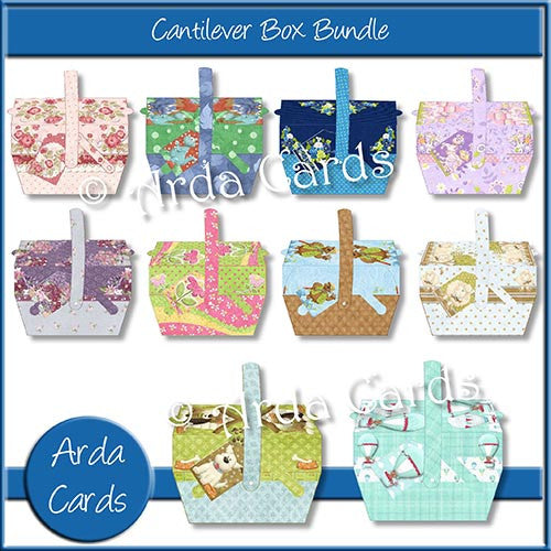 Cantilever Box Bundle - The Printable Craft Shop - 1