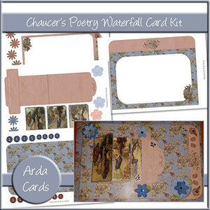 Chaucer's Poetry Waterfall Card Kit - The Printable Craft Shop