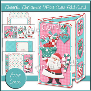 Cheerful Christmas Offset Gate Fold Card
