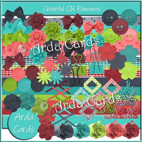 Cheerful CU Elements - The Printable Craft Shop