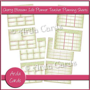 graphic about Printable Life Planner named Cherry Blossom Printable Daily life Planner Trainer Building Sheets