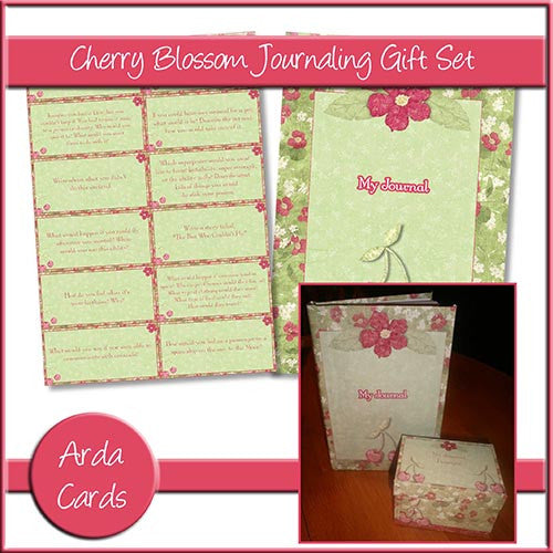 Cherry Blossom Journaling Gift Set - The Printable Craft Shop