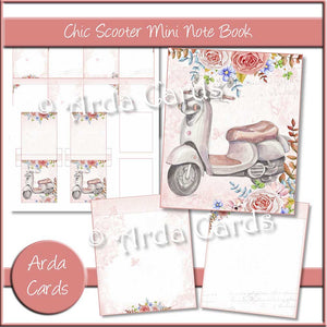 Chic Scooter Mini Notebook
