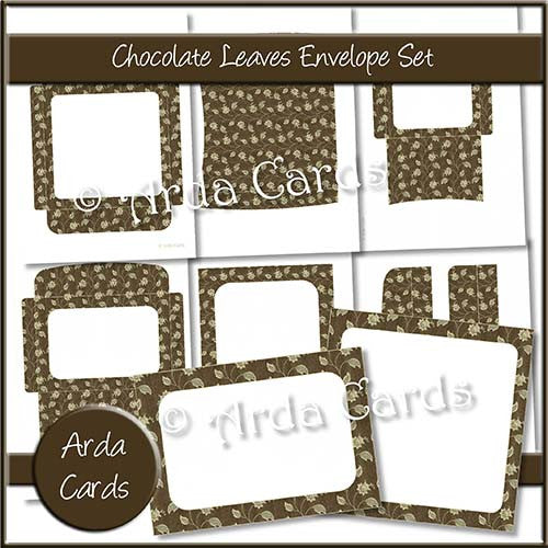 Chocolate Leaves Envelope Set