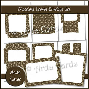 Chocolate Leaves Envelope Set - The Printable Craft Shop