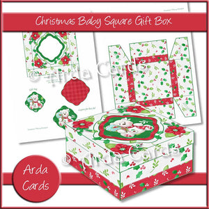 Christmas Baby Square Gift Box Printable