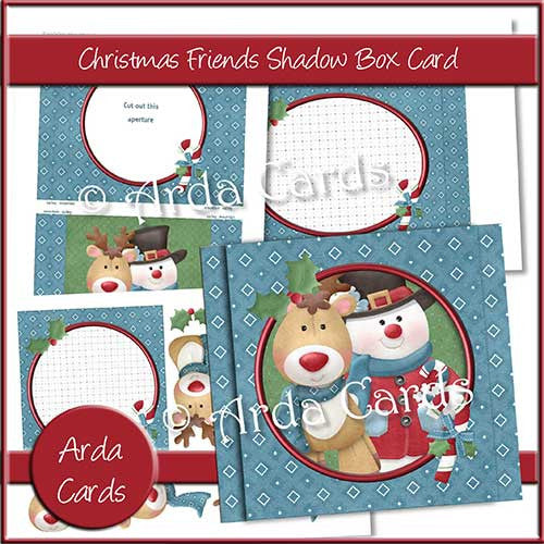 Christmas Friends Shadow Box Card - The Printable Craft Shop