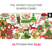 Load image into Gallery viewer, christmas printables advent bundle