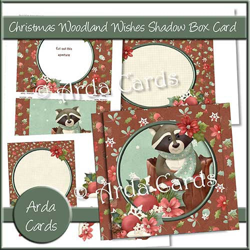 Christmas Woodland Wishes Shadow Box Card - The Printable Craft Shop